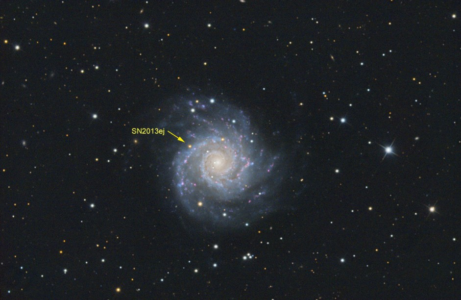 M74 - NGC628 with supernova SN2013ej